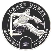 2015 $10 Ten Dollars-Goalies-Johnny Bower