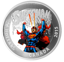 2015 20 Dollars Fine Silver Iconic Comic Book Cover-Superman #28