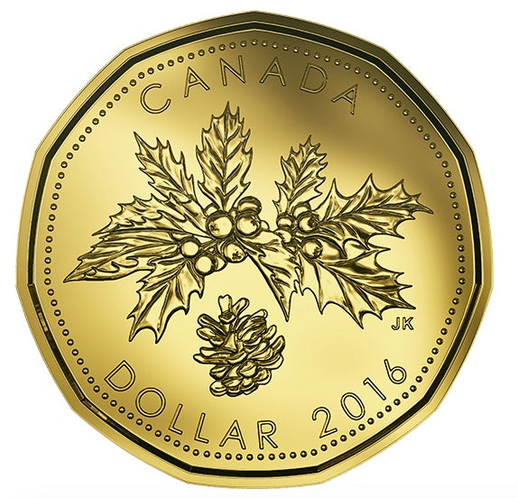 2016 Canada Uncirculated Loonie Dollar from Holiday Gift Set