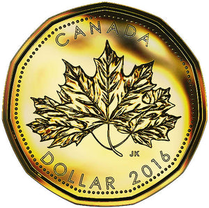 2016 Canada Uncirculated Loonie Dollar from O Canada Gift Set-Maple Leaf Design
