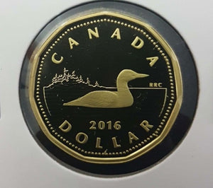 2016 Canada Proof Loonie Dollar