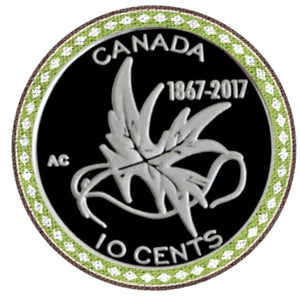 1867-2017 Canada Ten Cents Silver proof Heavy cameo - Trade your coins