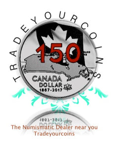 2017 Canada Special Edition Silver Proof Dollar- Canada 150th Anniversary-Our Home and Native Land