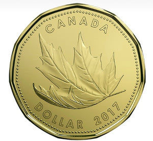 2017 Canada Uncirculated Loonie Dollar from O Canada Gift Set-Maple Leaf Design