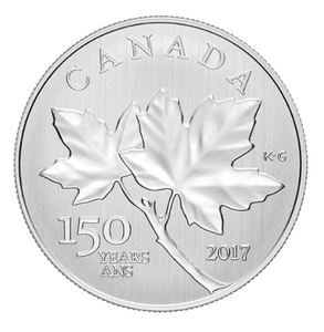 2017 Canada $10 Ten Dollars-Maple leaf Forever 1/2 oz