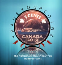 2018 Canada Fine Silver Colourised  Proof Beaver - 5 Cents