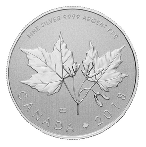 2018 Canada $10 Ten Dollars-Maple leaf Forever 1/2 oz