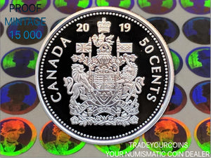 2019 Canada Fine Silver Proof 50 cents-Coat of Arms