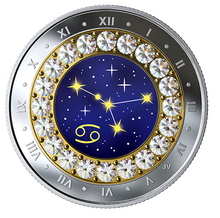 2019 Canada Fine Silver $5 Five Dollars- Birthstones Zodiac Series-Cancer