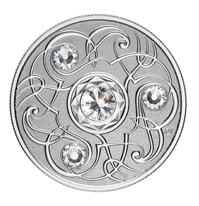 2020 Canada Fine Silver $5 Five Dollars- Birthstones: April-Diamond