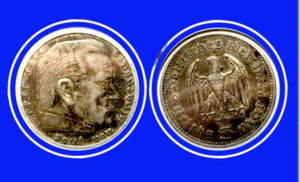 1936 A Germany 5 Reichsmark Silver Coin Lot-206 - Trade your coins