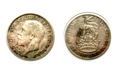 1928 Great Britain Silver Shilling George V, Lot:218
