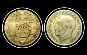1921 Great Britain Silver Shilling George V, Lot:229