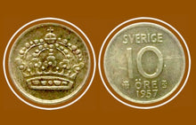 1957 Sweden 10 ÖRE Gustaf VI Adolf-Silver Coin - Lot-233