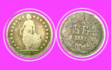 1881  Switzerland 1/2 Franc Silver-Lot:250