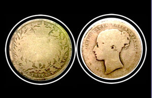 1875 Great Britain Queen Victoria One Shilling Silver Coin, Lot:253