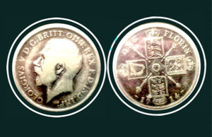 1914 United Kingdom One Florin George V Sterling Coin, Lot:255