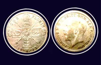 1922 United Kingdom One Florin George V Sterling Coin, Lot:258