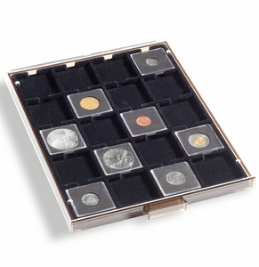COIN BOXES WITH SQUARE COMPARTMENTS