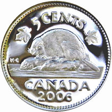 2006 Canada Five Cents Sterling proof Heavy cameo