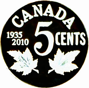 2010-1935 Canada Five Cents Sterling proof Heavy cameo-GEORGES V