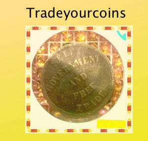 1857 PEI BR.919 SELF GOVERNMENT AND FREE TRADE HALF PENNY TOKEN  COINAGE - Trade your coins