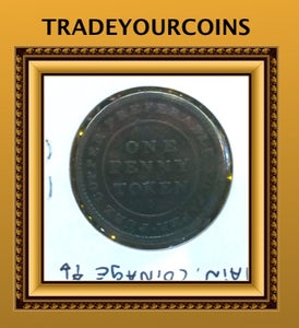 1814 One Penny Trade navigation Token NS-20B3 - Trade your coins