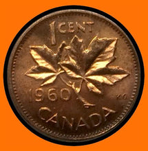 1960 Canada Small One Cent -Elizabeth II- lot # A32