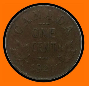 1920 Canada Small One Cent George V lot # A1