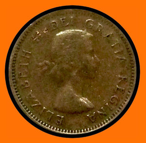 1953 Canada Small One Cent Elizabeth II-Doubling 53- lot # A12