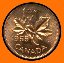 1955 SF Canada Small One Cent Elizabeth II- lot # A14