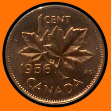 1956 Canada Small One Cent Elizabeth II- lot # A22
