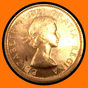 1956 Canada Small One Cent Elizabeth II- lot # A23