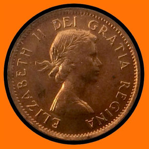 1956 Canada Small One Cent Elizabeth II- lot # A24