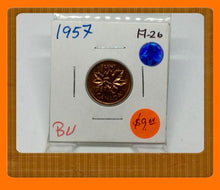 1957 Canada Small One Cent Elizabeth II- lot # A26