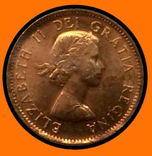1958 Canada Small One Cent Elizabeth II- lot # A28