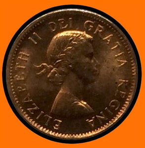 1958 Canada Small One Cent Elizabeth II- lot # A29