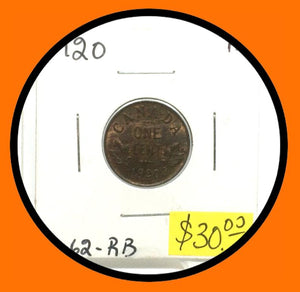 1920 Canada Small One Cent George V lot # A2 - Trade your coins