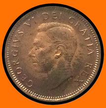 1949 A Off Canada Small One Cent-Red George VI lot # A39