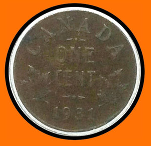 1931 Canada Small One Cent George V lot # A4 - Trade your coins