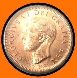 1951 Canada Small One Cent-Red George VI lot # A41