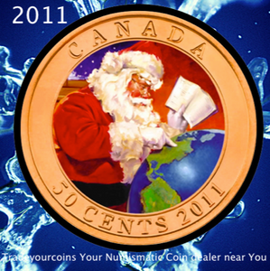 2011 Canada Nickel Half Dollar-50 Cents Gifts From Santa - Lenticular Coin