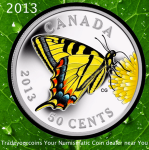 2013 Canada 50-Cent - Canadian Tiger Swallowtail