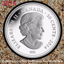 2014 Canada 50-CENT 100 Blessings of Good Fortune Silver Plated Coin