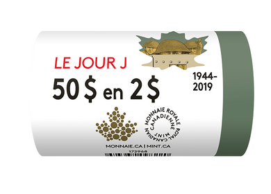 2019 Coloured $2 Special Wrap Roll-75 th Anniversary of D-Day
