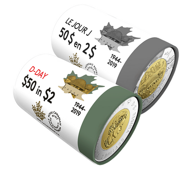 2019 Coloured $2 Special Wrap Roll Collection -75 th Anniversary of D-Day