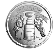 2017 25-cent 125th Anniversary of The Stanley Cup Special Wrap Coin Roll