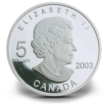 2003 Canada Fine Silver Five Dollars Coin-F.I.F.A World Cup