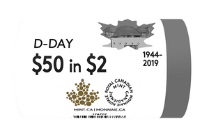 2019 non Coloured $2 Special Wrap Roll-75 th Anniversary of D-Day