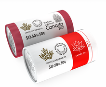 2017 50-Cent Special Wrap Roll Pack official and Coat of Arms of canada